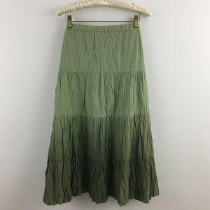 🆕🎁 Multi Tone Green Boho Skirt